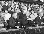 VIP supporters at the All Ireland Senior Gaelic Football Final Kerry v Offaly in Croke Park on 28th September 1969. Kerry 0-10 Offaly 0-7.