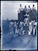 rail building and maintenance team France circa 1920s