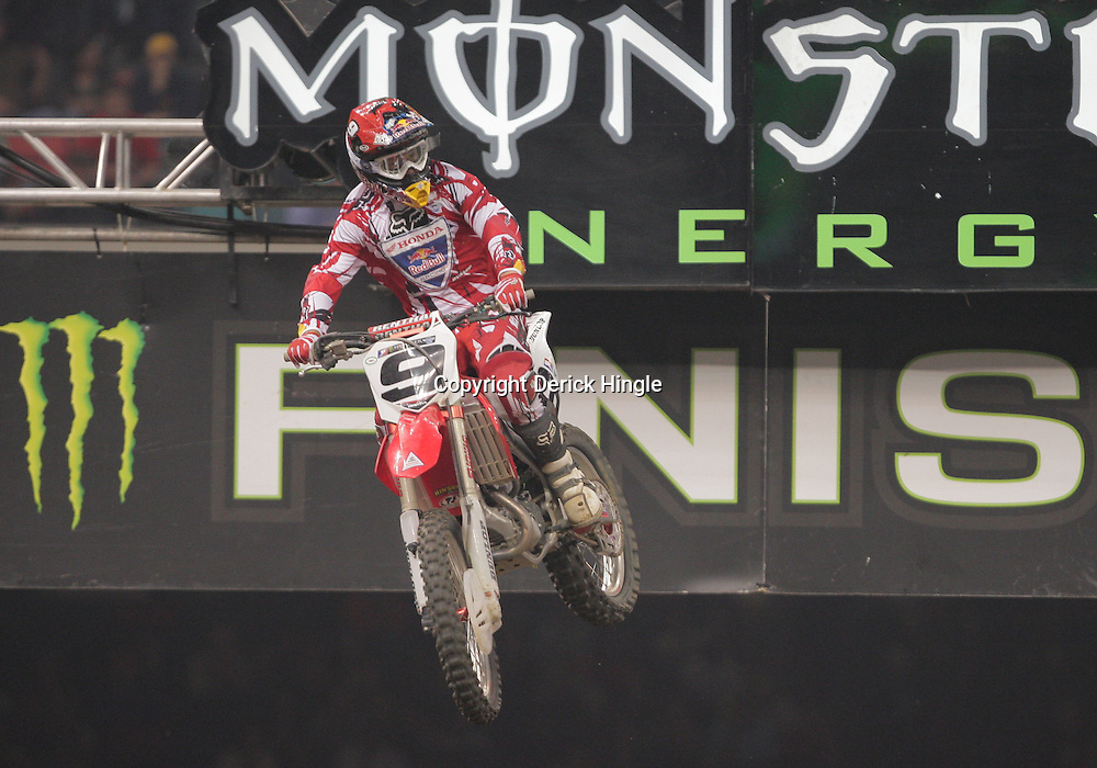14 March 2009: Ivan Tedesco (9) gains air during the Monster Energy AMA Supercross race at the Louisiana Superdome in New Orleans, Louisiana