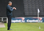 Chris Hughton during the Sky Bet Championship match between Milton Keynes Dons and Brighton and Hove Albion at stadium:mk, Milton Keynes, England on 19 March 2016. Photo by Bennett Dean.