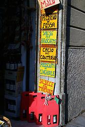 Castiglione del Lago:  A wine and cheese shop along the via Vittorio Emanuele.