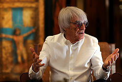 UK ENGLAND LONDON 13JAN14 - Formula One president and CEO Bernie Ecclestone reacts during an interview at his headquarters in Knightsbridge, central London.<br /> <br /> jre/Photo by Jiri Rezac<br /> <br /> &Acirc;&copy; Jiri Rezac 2014