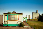 Mobile home in Chester, Montana.