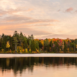 Little Greenough Pond in Wentworths Location, New Hampshire. Fall. Northern Forest.