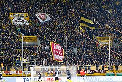 03.03.2015, Stadion Dresden, Dresden, GER, DFB Pokal, SG Dynamo Dresden vs Borussia Dortmund, Achtelfinale, im Bild Stimmung im Dynamo-Block vor dem Spiel // SPO during German DFB Pokal last sixteen match between SG Dynamo Dresden and Borussia Dortmund at the Stadion Dresden in Dresden, Germany on 2015/03/03. EXPA Pictures &copy; 2015, PhotoCredit: EXPA/ Eibner-Pressefoto/ Hundt<br /> <br /> *****ATTENTION - OUT of GER*****