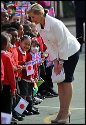 The Earl of Wessex 50th Birthday. The Earl and Countess of Wessex, Founders of the Wessex Youth Trust, visit The Robert Browning Primary School, Walworth, London, United Kingdom, to see the work of youth charity Kidscape, Monday, 10th March 2014. Picture by Andrew Parsons / i-Images