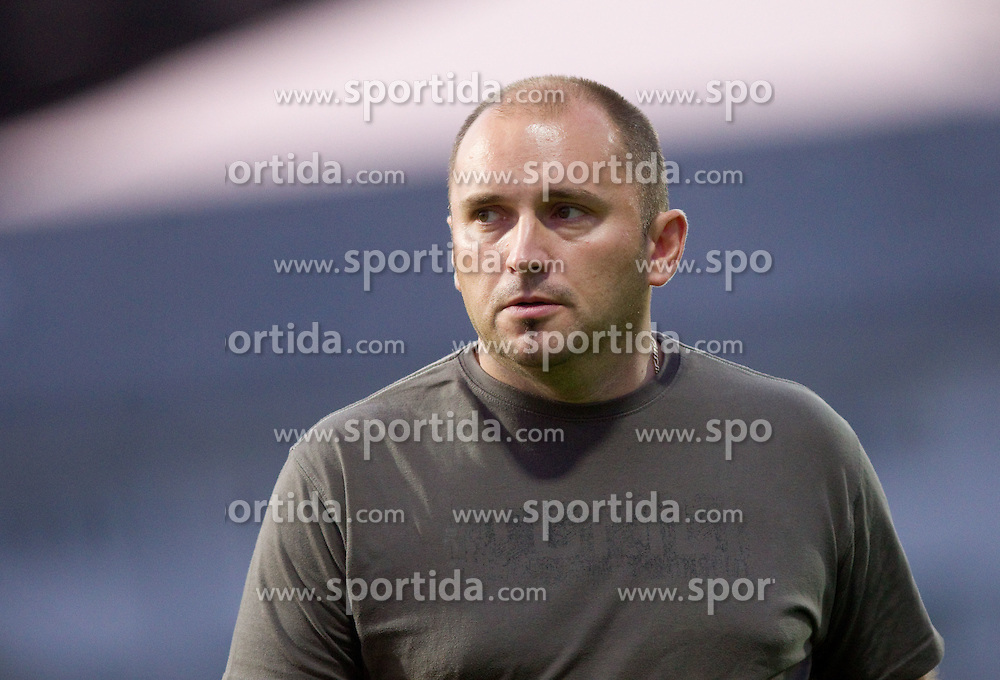 Sinisa Brkic, head coach of Triglav during football match between NK Domzale and NK Triglav Kranj of 12th Round of PrvaLiga, on September 28, 2011, in Sports centre, Domzale, Slovenia. Domzale defeated Triglav 2-0. (Photo by Vid Ponikvar / Sportida)