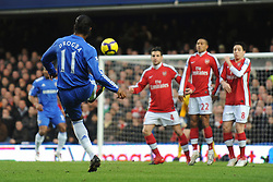 LONDON, ENGLAND - Sunday, February 7, 2010: Chelsea's Didier Drogba takes a free-kick during the Premiership match at Stamford Bridge. (Photo by Chris Brunskill/Propaganda)