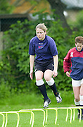 Teddington. Middlesex, RFUW Training session at the Lensbury Sports Club.<br /> Photo Peter Spurrier<br /> 09/05/2002<br /> Sport - Rugby - Women<br /> [Mandatory Credit:Peter SPURRIER/Intersport Images]