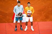 Novak DJOKOVIC / Tomas BERDYCH - 19.04.2015 - Tournoi de Monte Carlo 2015 - Masters 1000 <br />Photo : Serge Haouzi / Icon Sport
