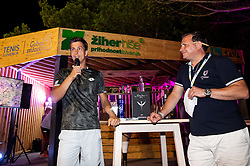 Aljaz Bedene of Slovenia in VIP after winning in 2nd Round of ATP Challenger Zavarovalnica Sava Slovenia Open 2019, day 6, on August 14, 2019 in Sports centre, Portoroz/Portorose, Slovenia. Photo by Vid Ponikvar / Sportida