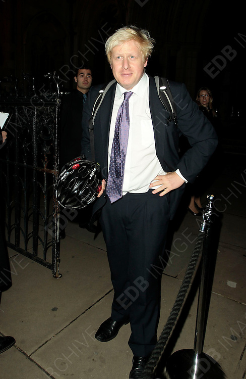05.SEPTEMBER.2010. LONDON<br /> <br /> BORIS JOHNSON ATTENDS A PARTY TO CELEBRATE THE RECIVING OF BRITISH CITIZENSHIP FOR RUSSIAN NEWS PAPER MOGUL ALEXANDER LEBEDEV AT THE ROYAL COURTS OF JUSTICE IN THE STRAND.<br /> <br /> BYLINE: EDBIMAGEARCHIVE.COM<br /> <br /> *THIS IMAGE IS STRICTLY FOR UK NEWSPAPERS AND MAGAZINES ONLY*<br /> *FOR WORLD WIDE SALES AND WEB USE PLEASE CONTACT EDBIMAGEARCHIVE - 0208 954 5968*