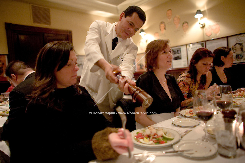 New York City concierges were treated to dinner at The Palm Restaurant in Manhattan as part of a 'concierge night' in hopes that in return they will recommend the restaurant to hotel guests.  March. 25, 2007. Robert Caplin For The New York Times..