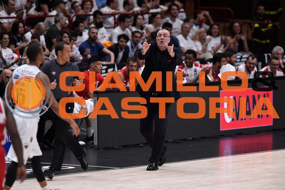 Jasmin Repesa<br /> EA7 Emporio Armani Olimpia Milano - Dolomiti Energia Aquila Basket Trento<br /> Lega Basket Serie A, Semifinali Playoff 2016/2017<br /> Milano, 25/05/2017<br /> Foto Ciamillo-Castoria