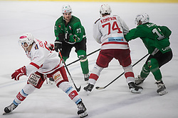 Svete Ziga of HK Olimpija during Ice Hockey match between HK SZ Olimpija and EC KAC II during 1st round of Alps Hockey League 2019/20, on September 14, 2019, in Hala Tivoli, Ljubljana, Slovenia. Photo by Grega Valancic