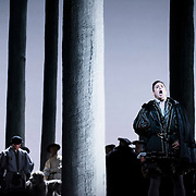 September 23, 2015 - New York, NY : Stephen Costello, foreground, performs as Lord Richard (Riccardo) Percy in a dress rehearsal for Gaetano Donizetti's 'Anne Bolena' at the Metropolitan Opera at Lincoln Center on Wednesday. CREDIT: Karsten Moran for The New York Times