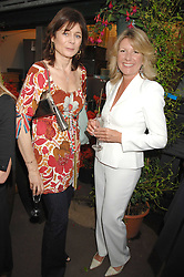 Left to right, LUCY HERVEY-BATHURST and CAROL BENNETT at a party for the Royal Marsden Hospital held at the Chelsea Gardener, Sydney Street, London on 6th May 2008.<br /><br />NON EXCLUSIVE - WORLD RIGHTS