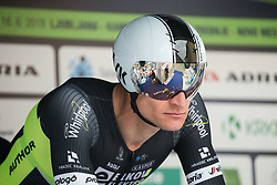 Alois Kankovsky of Elkov Author Cycling Team during 5th Time Trial Stage of 25th Tour de Slovenie 2018 cycling race between Trebnje and Novo mesto (25,5 km), on June 17, 2018 in  Slovenia. Photo by Vid Ponikvar / Sportida