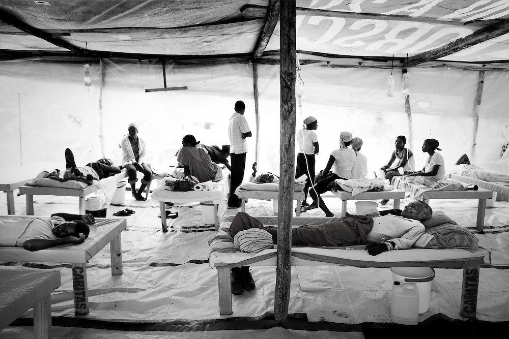 A hospital for care Cholera patients in Labranle, Haiti on Saturday, Dec. 4, 2010.