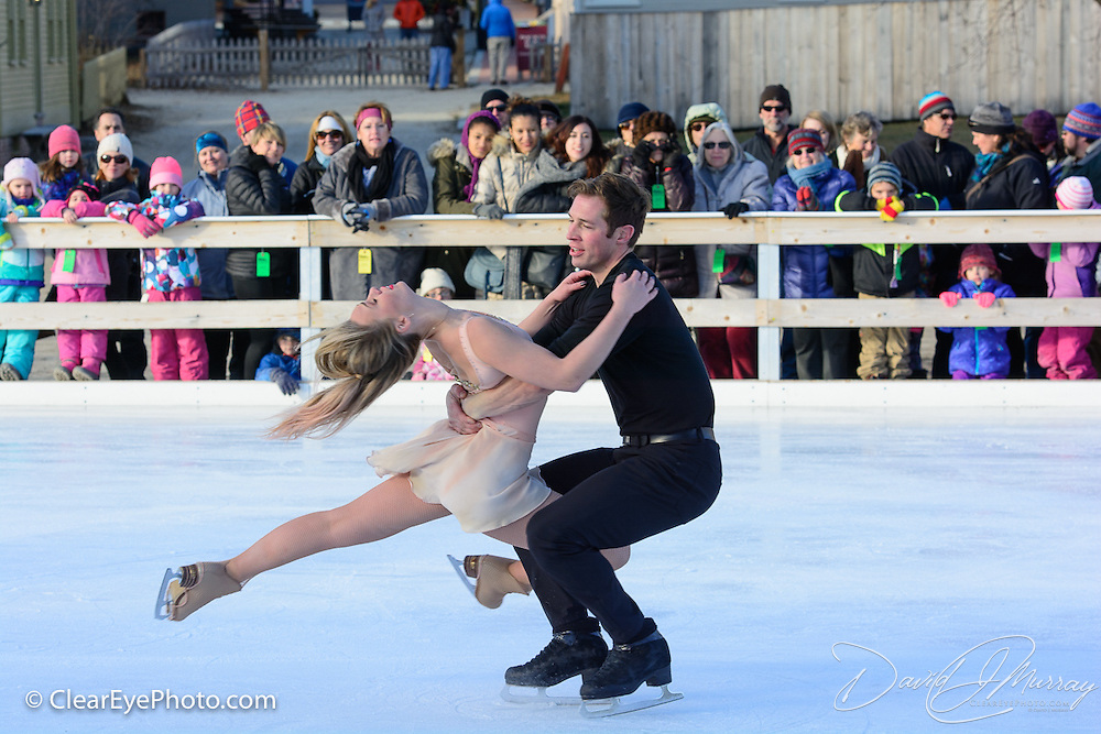 Carly Donowick and Jonathon Hunt perform with Ice Dance International at Strawbery Banke, Portsmouth NH on Jan 14, 2017