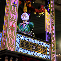 Nederland, Rotterdam , 1 oktober 2014.<br /> 1001 Inventions - ontdek de gouden eeuw van de moslimbeschaving<br /> In het monumentale gebouw Post Rotterdam (naast het Beurs-WTC) is onlangs de nieuwe tentoonstelling &quot;1001 Inventions&quot; van start gegaan. 1001 Inventions is een internationaal bekroonde tentoonstelling over het cultureel erfgoed van de moslimbeschavingen en zal tot en met 11 januari 2015 te bezichtigen zijn in het voormalige postkantoor aan de Coolsingel.<br /> Op de foto: een deel van de Olifantenklok<br /> <br /> Foto:Jean-Pierre Jans