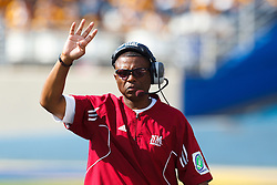 September 24, 2011; San Jose, CA, USA;  New Mexico State Aggies head coach DeWayne Walker on the sidelines during the fourth quarter against the San Jose State Spartans at Spartan Stadium. San Jose State defeated New Mexico State 34-24.