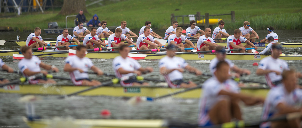 Amsterdam. NETHERLANDS.  GBR M8+.Bow. Nathaniel REILLY-O'DONNELL, Matthew TARRANT, Will SATCH, Matthew GOTREL, Pete REED, Paul BENNETT, Tom RANSLEY, Constantine LOULOUDIS and cox Phelan HILL. Gold Medalist, Men's Eight. De Bosbaan Rowing Course, venue for the 2014 FISA  World Rowing. Championships. 14:41:25  Sunday  31/08/2014.  [Mandatory Credit; Peter Spurrier/Intersport-images]