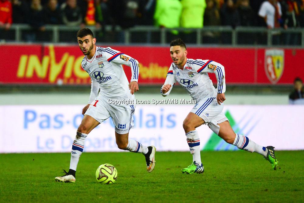 Rachid GHEZZAL / Jordan FERRI - 17.01.2015 - Lens / Lyon - 21eme journee Ligue 1<br />Photo : Dave Winter / Icon Sport