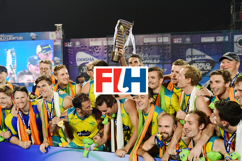 Odisha Men's Hockey World League Final Bhubaneswar 2017<br /> Match id:<br /> Ceremony<br /> Foto: Australia<br /> COPYRIGHT WORLDSPORTPICS FRANK UIJLENBROEK