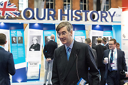 © Licensed to London News Pictures . 02/10/2017. Manchester, UK. JACOB REES-MOGG arrives at the conference . The second day of the Conservative Party Conference at the Manchester Central Convention Centre . Photo credit: Joel Goodman/LNP