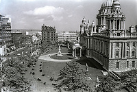 City Hall, Belfast, N Ireland, UK, facing towards Donegall Square North, 7th May 1974, 197407070266B<br />