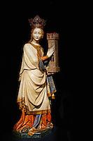 Slovenie, region de Basse-Styrie, Ptuj, ville sur les rives de la Drava (Drave), musee du chateau, Sainte Catherine,environs 1410 // Slovenia, Lower Styria Region, Ptuj, town on the Drava River banks, Castle museum, St. Catherine, around 1410