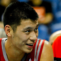 October 24, 2012; New Orleans, LA, USA; Houston Rockets point guard Jeremy Lin (7) against the New Orleans Hornets during the second half of a preseason game at the New Orleans Arena. The Rockets defeated the Hornets 97-90. Mandatory Credit: Derick E. Hingle-US PRESSWIRE