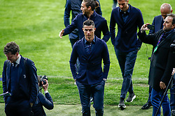 February 19, 2019 - Madrid, MADRID, SPAIN - Cristiano Ronaldo of Juventus during the press conference before the Champions League football match between Atletico de Madrid and Juventus at Wanda Metropolitano stadium, Madrid, Spain, Februeary 19th 2019. (Credit Image: © AFP7 via ZUMA Wire)