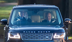 © Licensed to London News Pictures. 02/12/2019. Windsor, UK.  Prince Andrew waves as he drives from Windsor. Later the BBC Panorama will screen an hour long interview with Virginia Giuffre who alledges she was made to sleep with Prince Andrew when she was 17. Photo credit: Peter Macdiarmid/LNP