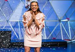 Winner Manca Šepetavc reacts during Miss sports event, on April 22, 2017 in Cankarjev dom, Ljubljana, Slovenia. Photo by Vid Ponikvar / Sportida