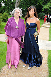 Left to right, ALIZA MOUSSAIEFF and RACHEL GIFFIN Marketing director of the Raisa Gorbachev Foundation at the Raisa Gorbachev Foundation fourth annual fundraising gala dinner held at Stud House, Hampton Court, Surrey on 6th June 2009.