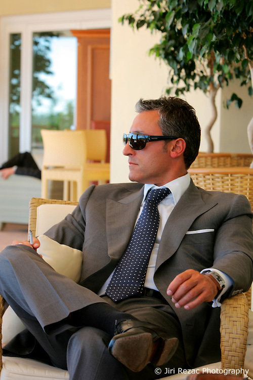 ITALY SARDINIA CHIA 28SEP07 - Portrait of Andreas Panayiotou visiting the Le Meridien Chia Laguna resort with intentions of a leaseback purchase. Panayiotou, founder and Group Chairman of The Ability Group and a former boxer built his property empire from the ground up and today enjoys his status as billionnaire tycoon...jre/Photo by Jiri Rezac..© Jiri Rezac 2007..Contact: +44 (0) 7050 110 417.Mobile:  +44 (0) 7801 337 683.Office:  +44 (0) 20 8968 9635..Email:   jiri@jirirezac.com.Web:    www.jirirezac.com..© All images Jiri Rezac 2007 - All rights reserved.
