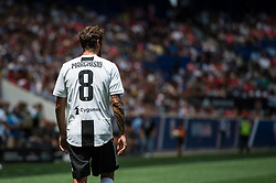 July 28, 2018 - Harrison, New Jersey, United States - Juventus midfielder CLAUDIO MARCHISIO (8) during the International Champions Cup at Red Bull Arena in Harrison, NJ.  Juventes vs Benfica (Credit Image: © Mark Smith via ZUMA Wire)