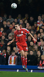 LONDON, ENGLAND - Wednesday, December 19, 2007: Liverpool's Jack Hobbs in action against Chelsea during the League Cup Quarter Final match at Stamford Bridge. (Photo by David Rawcliffe/Propaganda)