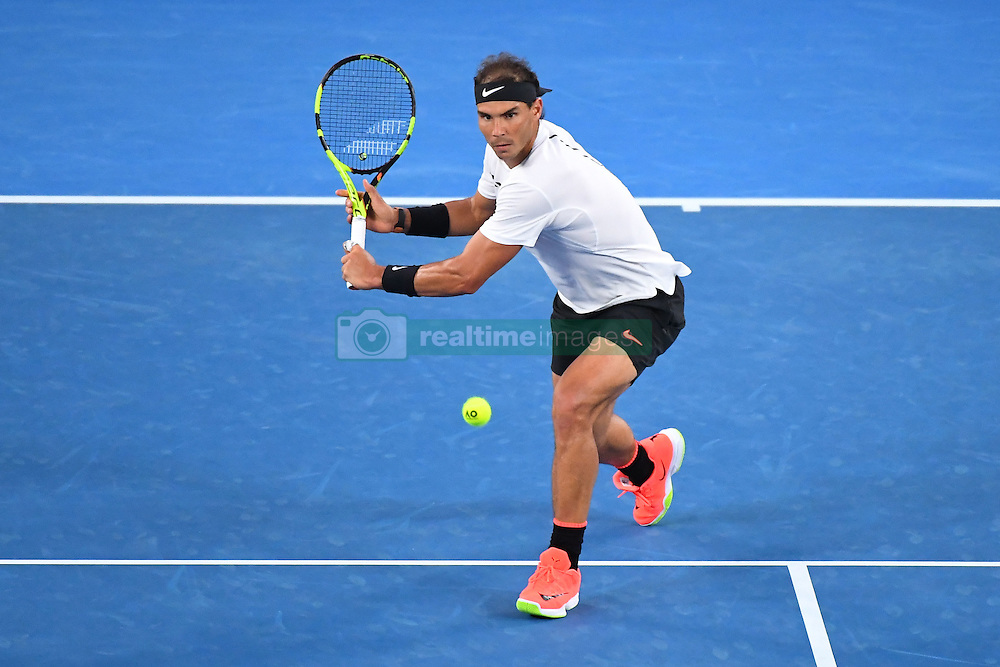 January 27, 2017 - Melbourne, AUSTRALIA - Rafael Nadal (ESP) def Grigor Dimitrov  (Credit Image: © Panoramic via ZUMA Press)