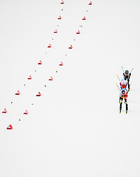 February 24, 2019 - Seefeld In Tirol, AUSTRIA - 190224 Bernhard Gruber of Austria, Jarl Magnus Riiber of Norway and Akito Watabe of Japan compete in men's nordic combined team sprint during the FIS Nordic World Ski Championships on February 24, 2019 in Seefeld in Tirol..Photo: Vegard Wivestad GrÂ¿tt / BILDBYRN / kod VG / 170297 (Credit Image: © Vegard Wivestad Gr¯Tt/Bildbyran via ZUMA Press)
