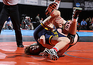 07 MARCH 2009: Cornell's Kyle Kehrli (left) tries to control Wilkes' Frank Heffernan in the 174-pound quarterfinal at the 2009 NCAA Division III Wrestling Championships at the US Cellular Center in Cedar Rapids, Iowa on Friday March 7, 2009. Kehrli won 8-6.