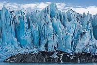 Front face of Colony Glacier; Southcentral Alaska; valley glacier