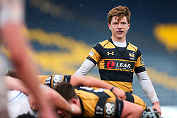 Will Porter (capt) of Wasps U18 looks on - Rogan Thomson/JMP - 16/02/2017 - RUGBY UNION - Sixways Stadium - Worcester, England - Wasps U18 v Exeter Chiefs U18 - Premiership Rugby Under 18 Academy Finals Day 3rd Place Play-Off.