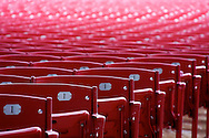 I entered this picture in the End of Winter photo contest in Chicago hoping to capture the emotional attachment of the seats that can only be used at the 'end of winter'.  This picture depicts the seating of the Pavilion, an outside amphitheater,  in down town Chicago.  I won the contest.