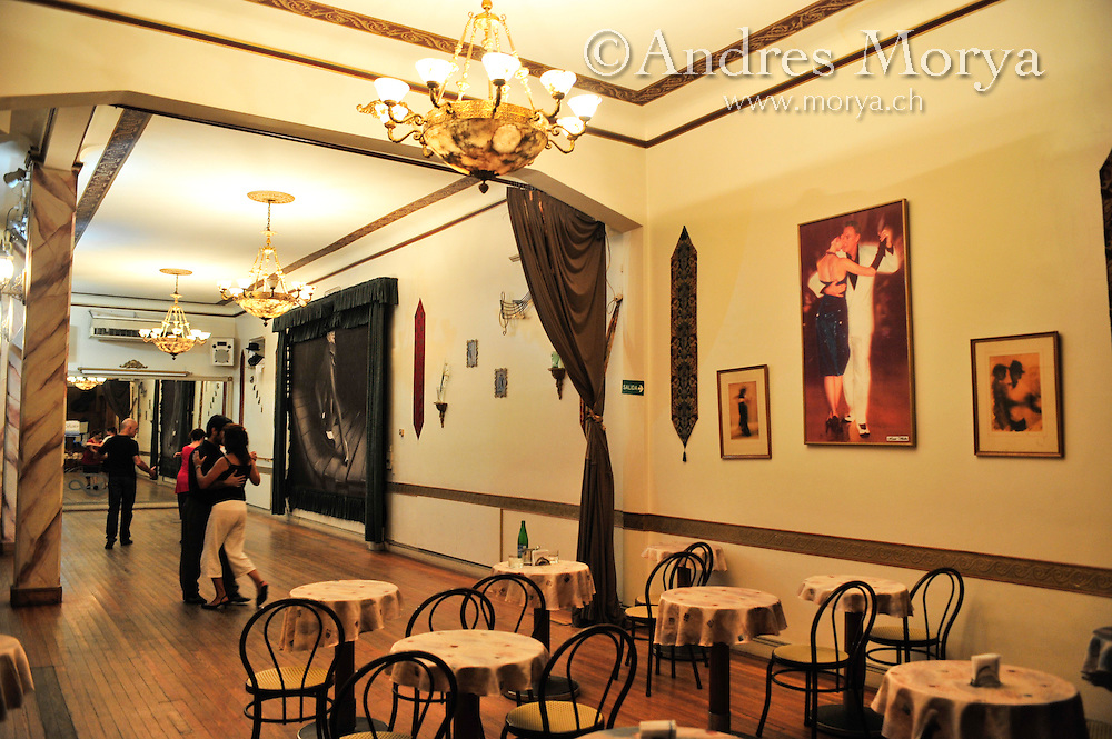 Tango Dancers in Salon Dandi, Buenos Aires, Argentina Image by Andres Morya