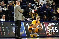 December 10, 2017 - Johnson City, Tennessee - Freedom Hall: ETSU head coach Steve Forbes, ETSU guard Dillon Reppart (23)<br /> <br /> Image Credit: Dakota Hamilton/ETSU