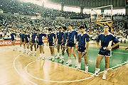 Europei Atene 1987 - Nazionale Italiana<br /> montecchi, gentile, magnifico, moretti, villalta, iacopini, brunamonti, tonut, riva, magnifico