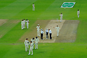 Bad light ends play for the day with the player coming off during the International Test Match 2019 match between England and Australia at Edgbaston, Birmingham, United Kingdom on 3 August 2019.